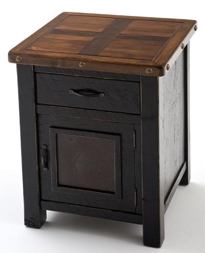 Stunning Nightstand With Door And Drawer Cottage End Table Painted Furniture Reclaimed Rustic Aged