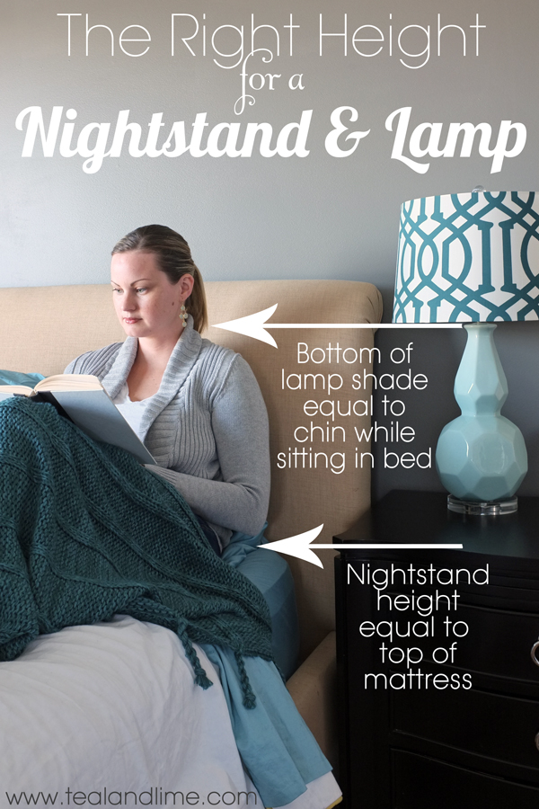 Stunning Nightstands For Tall Beds Finding The Right Height For A Nightstand And Lamp