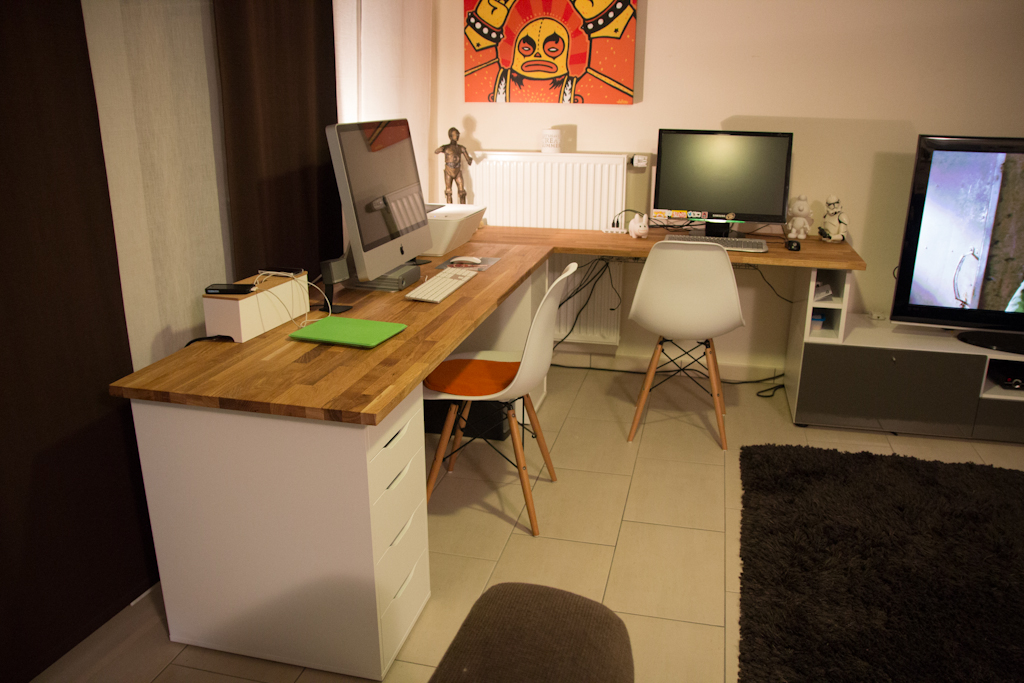 Stunning Office Worktop Desk Alex Hammarp Home Office Ikea Hackers Ikea Hackers