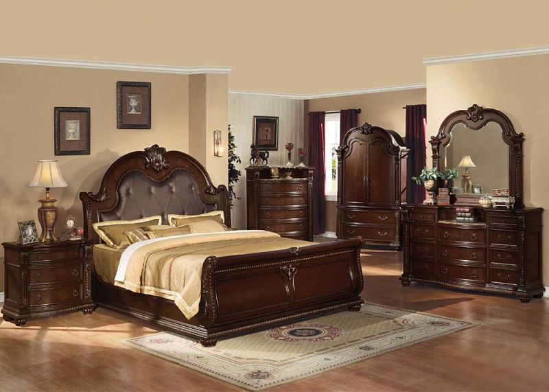 Stunning Queen Bedroom Set With Armoire Von Furniture Anondale
