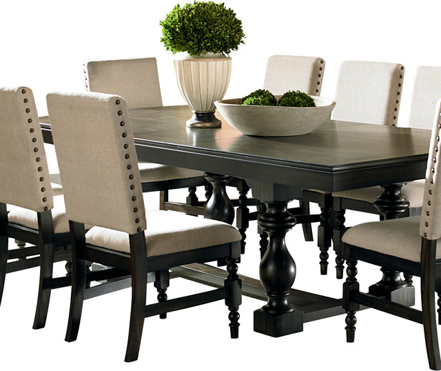 Stunning Rectangle Dining Table Steve Silver Leona Rectangular Dining Table In Dark Hand Rubbed