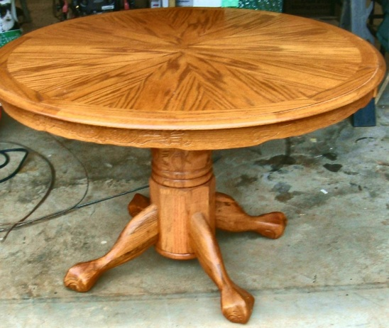 Stunning Round Dining Room Table With Leaf Dining Room Table Tiger Oak With Leaf Home Interiors