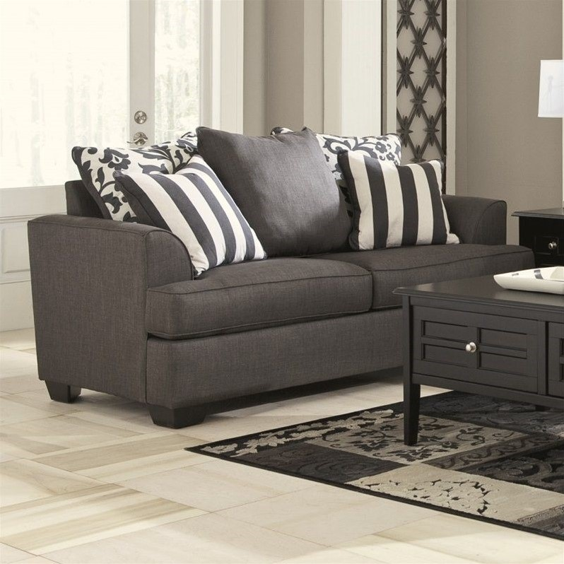 Stunning Signature Design By Ashley Loveseat Signature Design Ashley Furniture Levon Loveseat In Charcoal