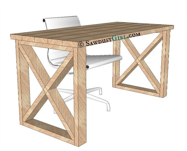 Stunning Simple Desk Design X Leg Desk Plans And Tutorial From Sawdust Girl Ideas For The