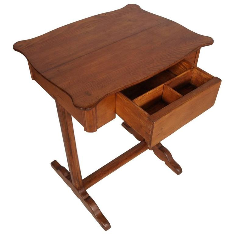 Stunning Small Table Desk Early 20th Century Biedermeier Country Small Table Desk Massive