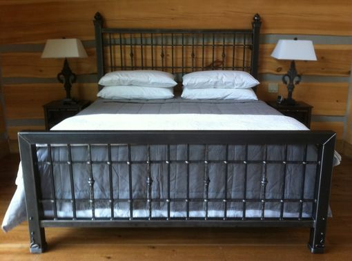 Stunning Steel King Size Bed Frame Hand Crafted Iron King Size Bed Desiron Custom Metal Custommade