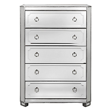 Stunning Tall Dresser Chest Of Drawers Simplicity Mirrored 5 Drawer Tall Chest Amethyst Nicolette