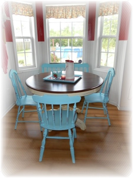 Stunning Teal Kitchen Chairs Cottage Style Kitchen Table And Chairs