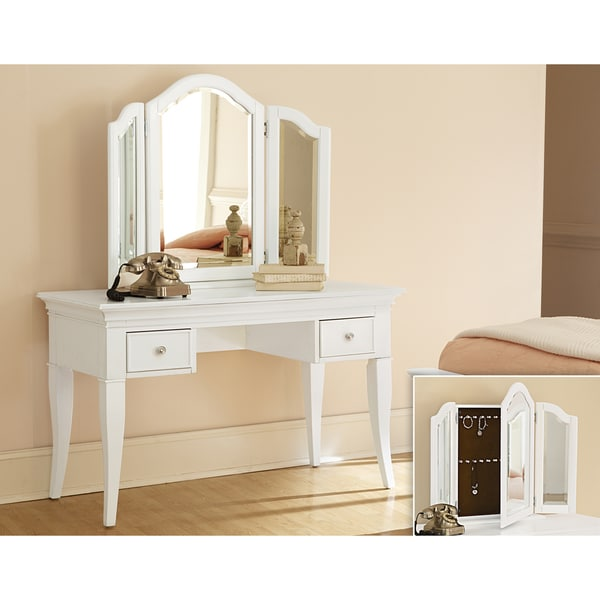 Stunning Vanity With Mirror And Chair Shop Ne Kids Walnut Street Chestnut Wood Desk With Vanity Storage