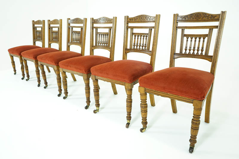 Stunning Victorian Dining Chairs Antique Dining Chairs Oak Dining Chairs Victorian 1890 B779