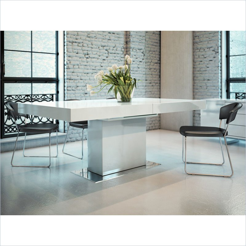 Stunning White Lacquer Dining Table Modern Make A Clear White Lacquer Dining Table Natural Wood Boundless