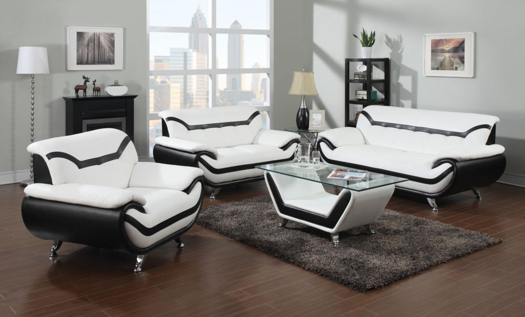 Stunning White Leather Living Room Chairs Modern White Leather Sofas With Black Trim Eva Furniture