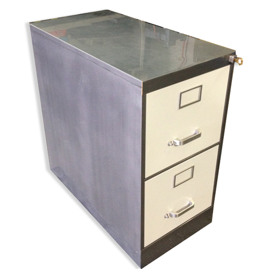 Stylish 2 Drawer Metal File Cabinet Vintage Retro Steel Vertical File Cabinet Customized Office
