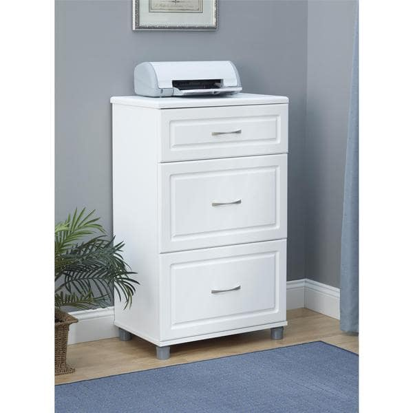 Stylish 24 Inch Chest Of Drawers Systembuild White Kendall 24 Inch 3 Drawer Base Cabinet Free