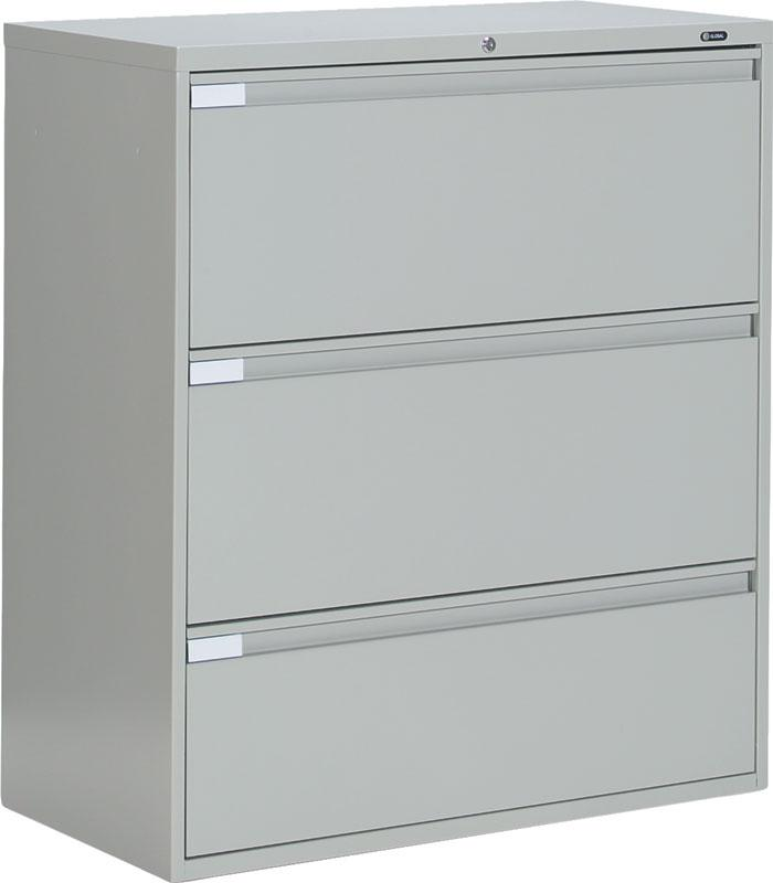 Stylish 3 Drawer Lateral File Cabinet Metal Metal 3 Drawer Lateral File Cabinet Office Furniture Ebay