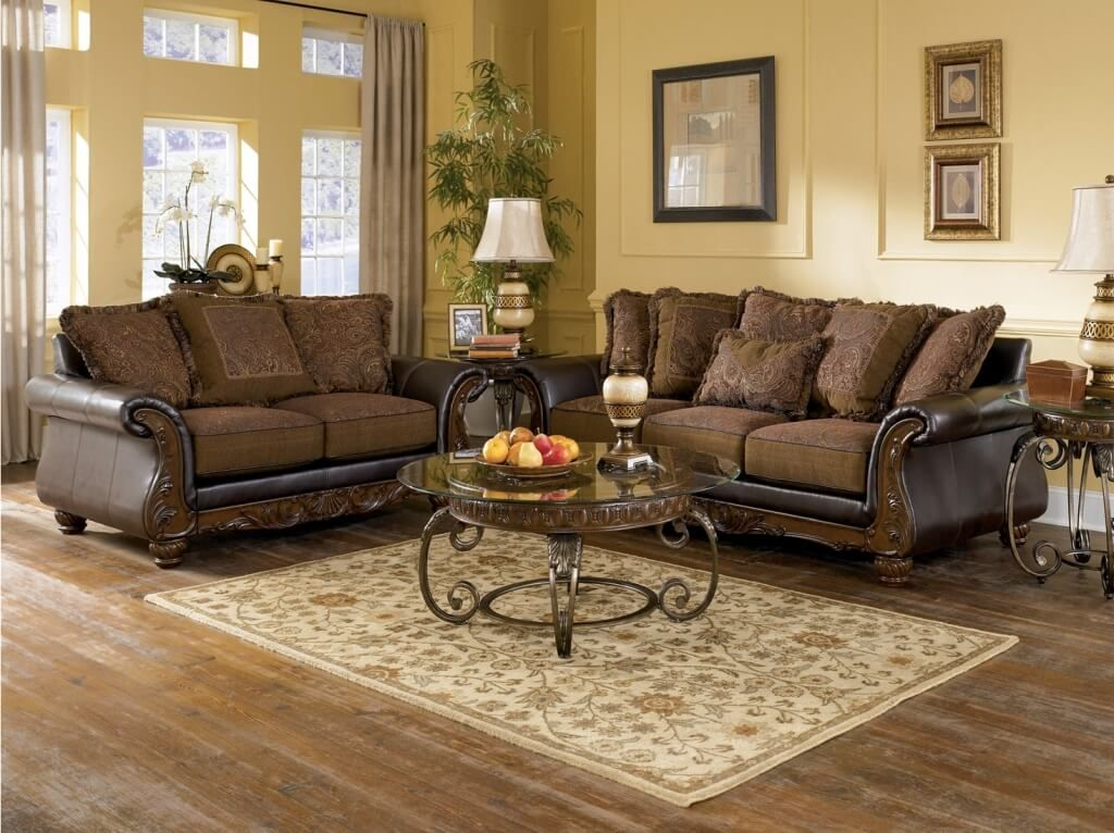 Stylish 5 Piece Living Room Set Furniture Deluxe 5 Piece Living Room Leather Furniture Set With