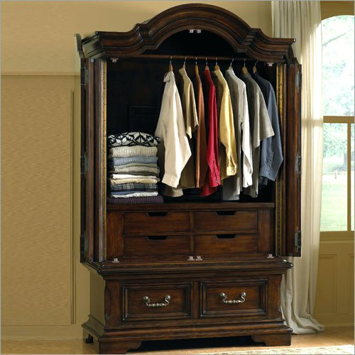 Stylish Armoire With Hanging Rod And Drawers Wardrobes Hanging Clothes Armoire White Hanging Clothes Armoire