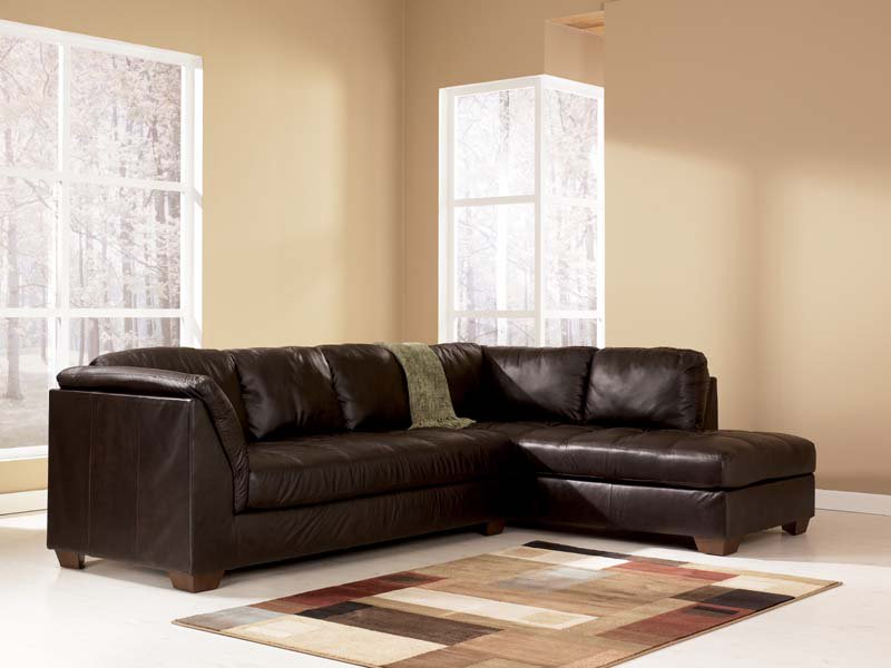 Stylish Ashley Furniture Brown Sectional Harrington Chocolate Sectional Sofa Signature Design Ashley