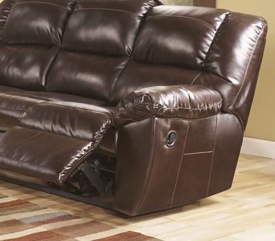 Stylish Ashley Leather Reclining Loveseat Ashley 53000 Rouge Mahogany Leather Reclining Sofa Loveseat