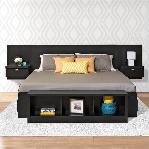 Stylish Bed With Side Headboard 25 Incredible Queen Sized Beds With Storage Drawers Underneath