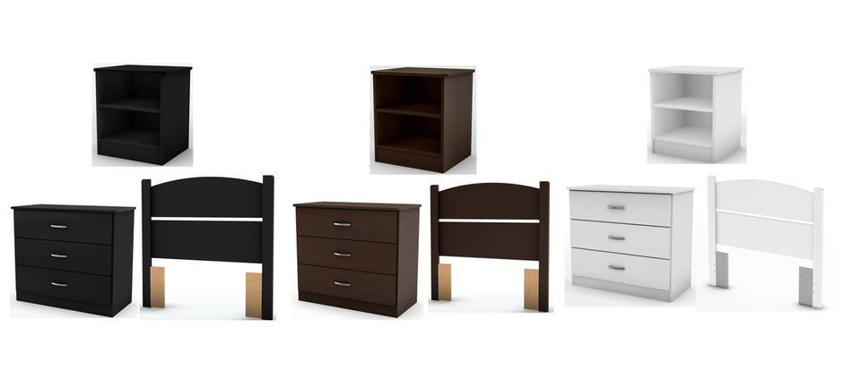 Stylish Bedroom In A Box South Shore Smart Basics Bedroom In A Box Multiple Finishes