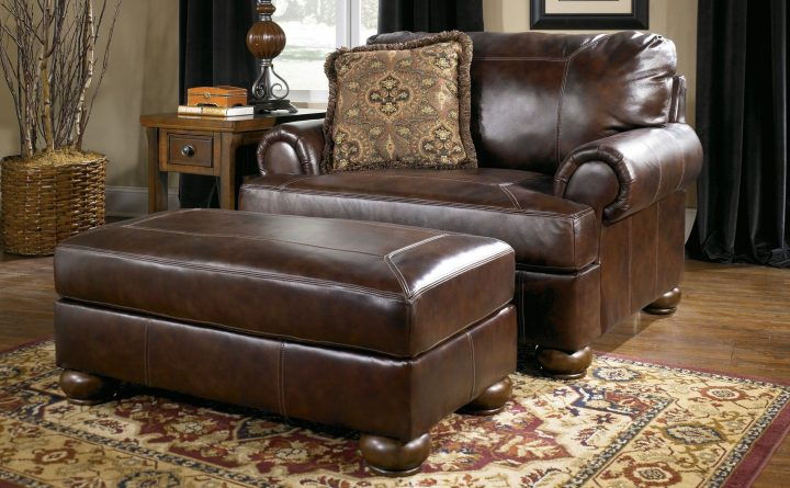 Stylish Big Comfy Leather Chair Ottoman Beautiful Superb Oversized Chair And Half For Home Decor