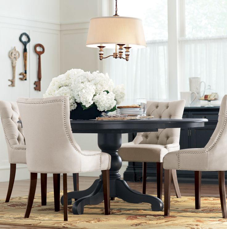 Stylish Black And Cream Dining Chairs Best 25 Tufted Dining Chairs Ideas On Pinterest Dining Room