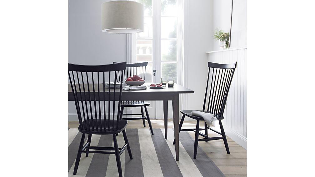 Stylish Black And Wood Dining Chairs Marlow Ii Wood Dining Chair Crate And Barrel