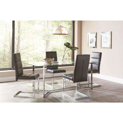 Stylish Black Dining Table And Chairs Set Coaster Kitchen Dining Room Furniture Furniture The Home Depot