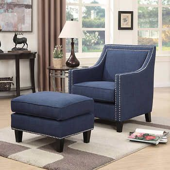 Stylish Blue Accent Chair With Ottoman Best 25 Navy Blue Accent Chair Ideas On Pinterest Navy Dining