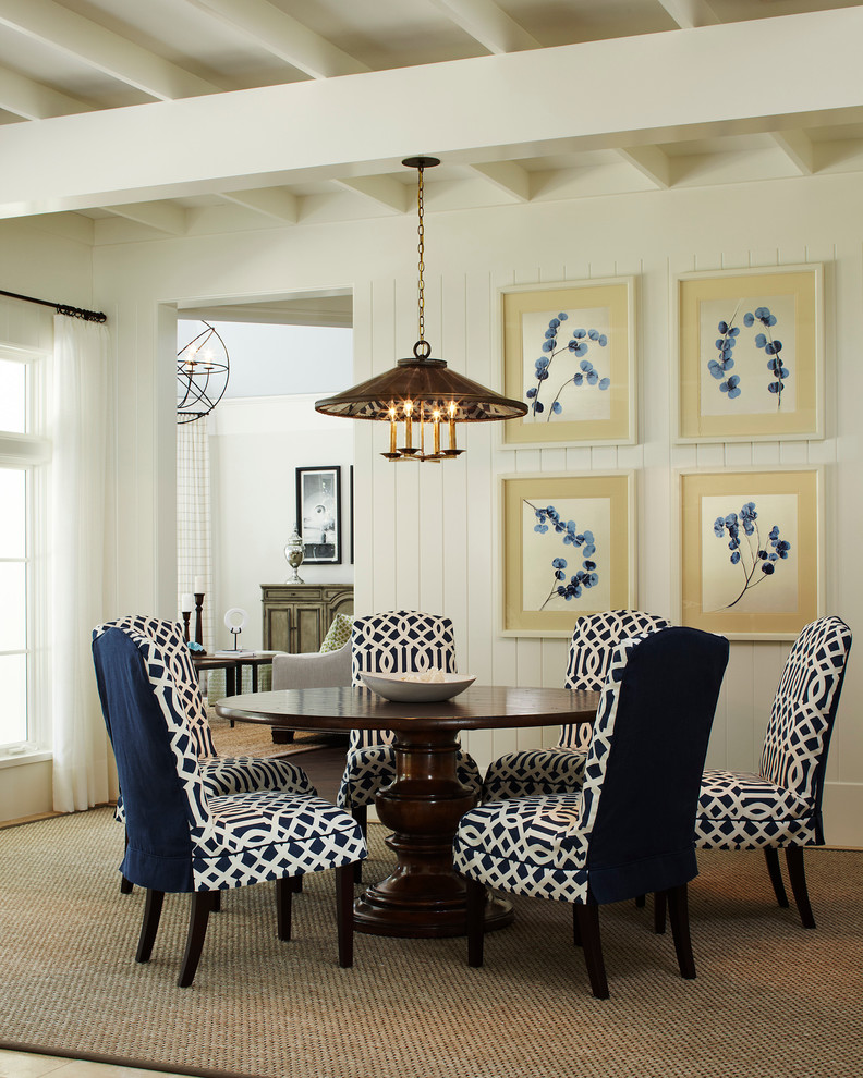Stylish Blue And White Dining Chairs Dining Chair Slipcovers Dining Room Traditional With Blue And