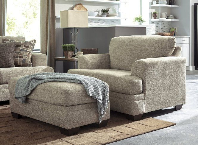 Stylish Blue Oversized Chair And Ottoman Oversized Living Room Chairs Chair With Ottoman Furniture