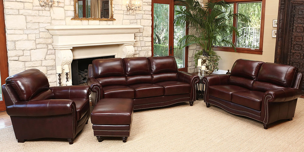Stylish Brown Leather Living Room Set Living Room Sets Costco