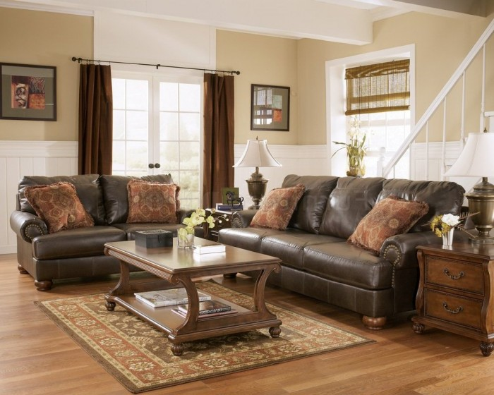 Stylish Brown Living Room Furniture Family Room Furniture On Pinterest Leather Furniture Living Room