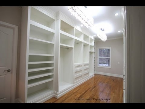 Stylish Build Your Own Custom Closet Building Built In Wardrobe Cabinets In Walk In Master Closet Youtube