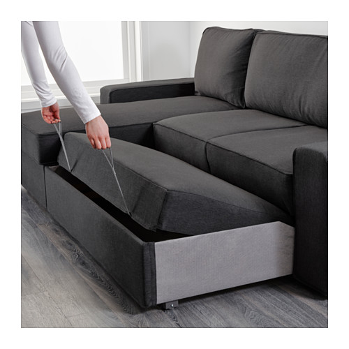 Stylish Chaise Longue Sofa Bed Vilasund Sofa Bed With Chaise Longue Ikea