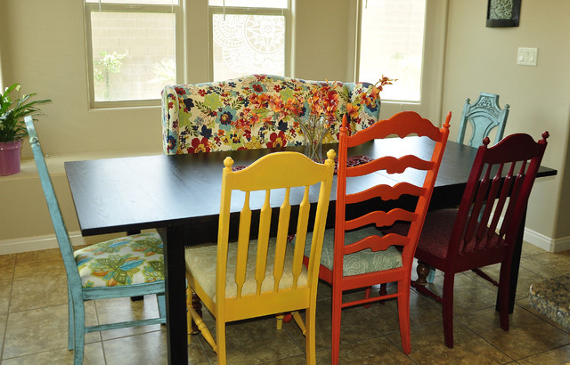 Stylish Colorful Kitchen Chairs Colorful Kitchen Eclectic Kitchen Salt Lake City Brooke
