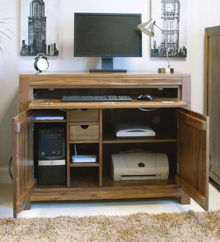 Stylish Computer Cabinet Desk Best 25 Hideaway Computer Desk Ideas On Pinterest Desk Under