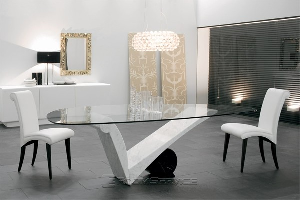 Stylish Contemporary Dining Table Viola Damore Contemporary Marble Dining Table