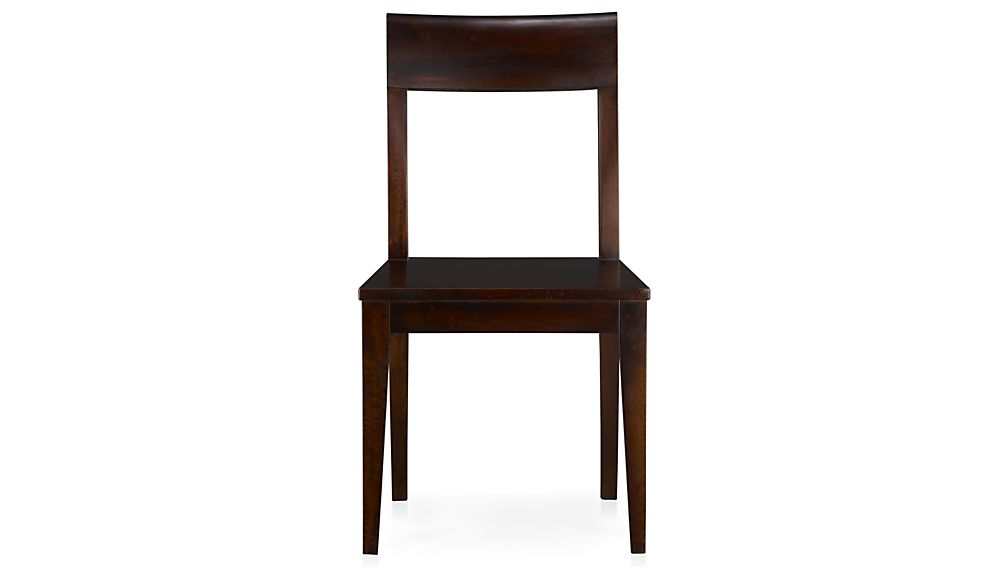 Stylish Dark Wood Dining Chairs Cabria Dark Wood Dining Chair And Cushion Crate And Barrel