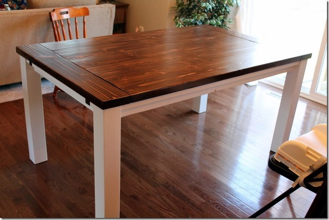 Stylish Dining Table With Leaves Diy Farmhouse Table With Extension Leaves With Plans Sweet