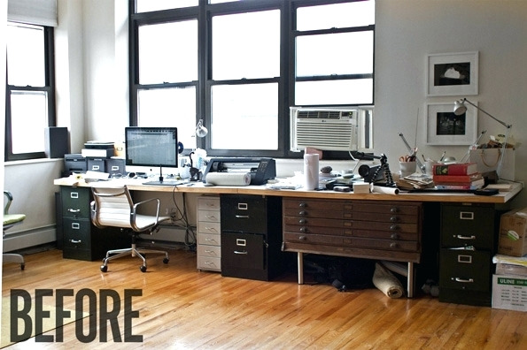 Stylish Diy Executive Desk Desk A Sharp Office Makeover Complete With A Diy Retractable