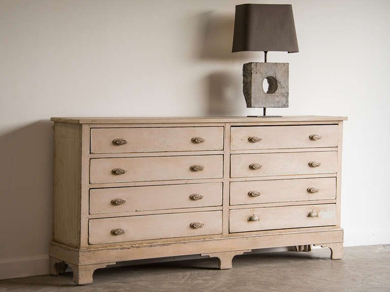 Stylish Double Chest Of Drawers Painted Double Wide Chest Of Drawers France Circa 1910 At 1stdibs