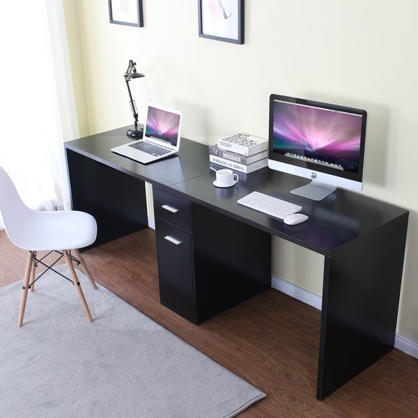 Stylish Double Computer Desk Workstation Double Workstation Desk Wayfair