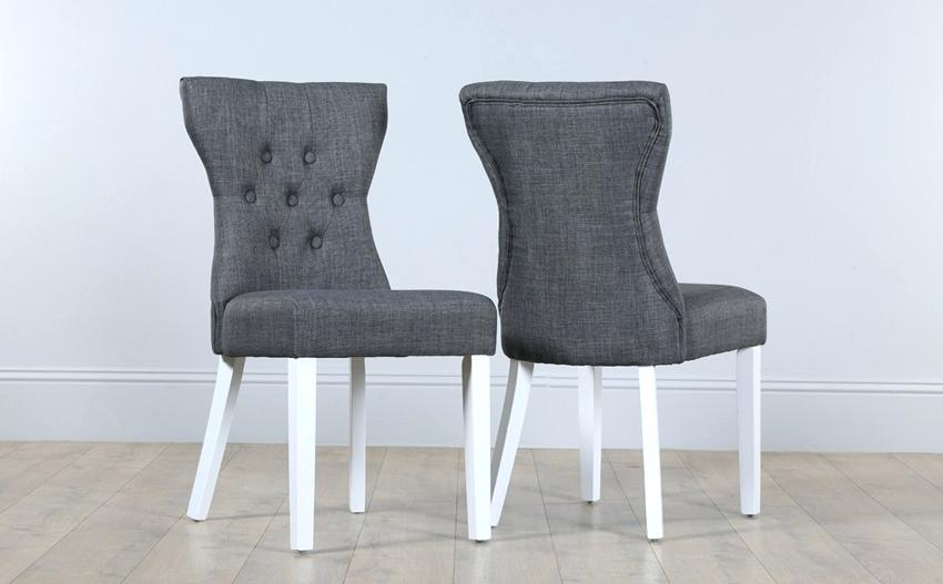 Stylish Fabric Dining Chairs With Black Legs Grey Fabric Dining Chairs With Black Legs Material Australia Sale
