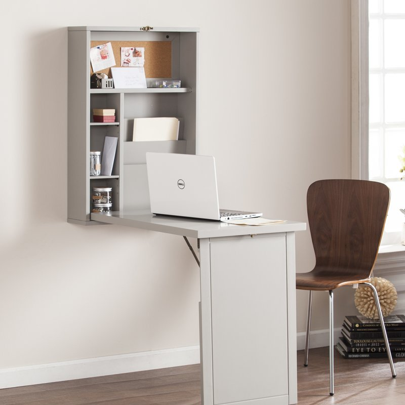 Stylish Fold Out Desk Symple Stuff Fold Out Convertible Wall Mount Floating Desk