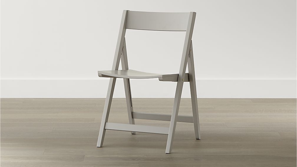 Stylish Folding Dining Chairs Spare Dove Folding Dining Chair Crate And Barrel