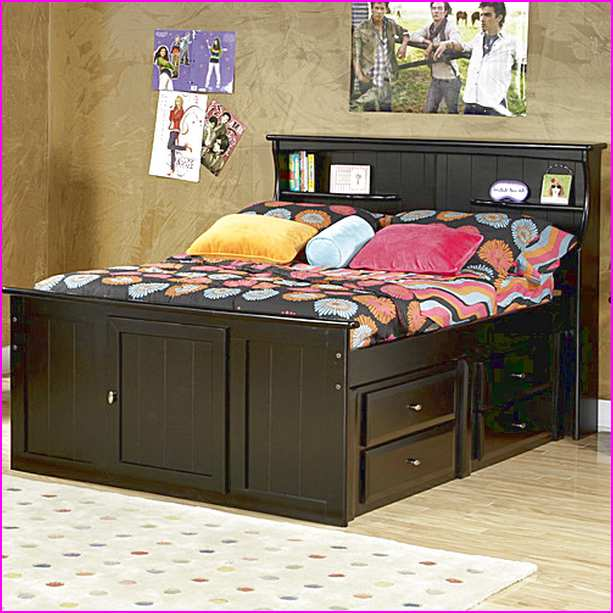 Stylish Full Headboard And Frame Luxury Full Size Bed Frame With Bookcase Headboard 68 With