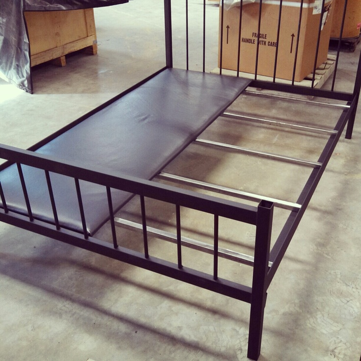 Stylish Full Size Steel Bed Frame Full Size Bed Frame Welded Steel Doesnt Need Box Springs