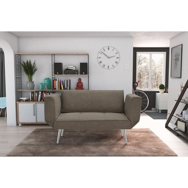 Stylish Futon Bed With Storage Novogratz Euro Futon With Magazine Storage Free Shipping Today